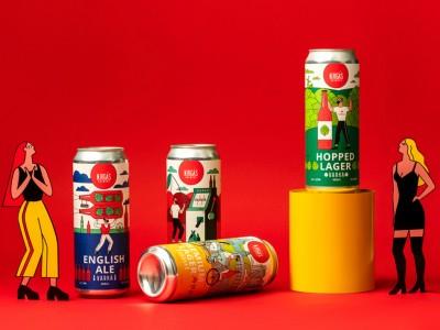 》啤酒包装插画设计(渡岸创意)